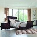 Palettes by Winesburg Adrienne PW Contemporary Queen Sleigh Bed with High Footboard - Bed shown may not represent size indicated