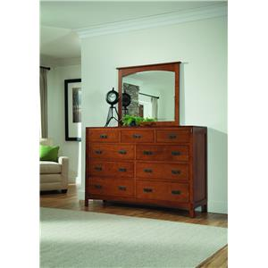 Palettes by Winesburg American Craftsman Dresser with Mirror