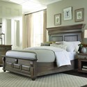 Palettes by Winesburg Bartletts Island Queen Panel Bed  - Item Number: 320-BAR1312310+1340+1330