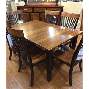Palettes by Winesburg BLK/ELM Two Toned Dining Table