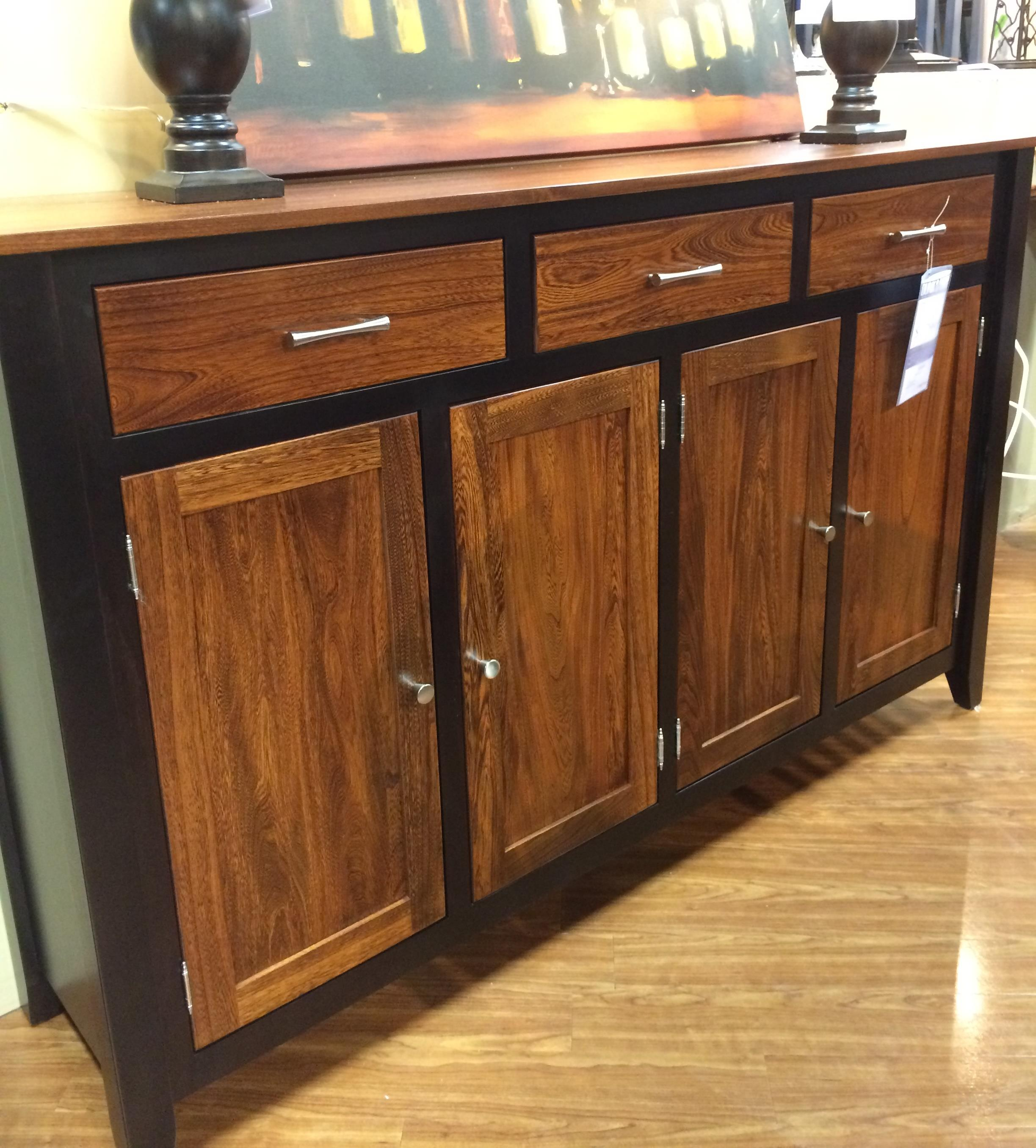 Palettes By Winesburg BLK/ELM Two Toned Buffet   Item Number: STF BUF