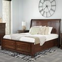 Palettes by Winesburg Brigantine King Sleigh Bed  - Item Number: 127-BRE1211230+7210+7340+7341