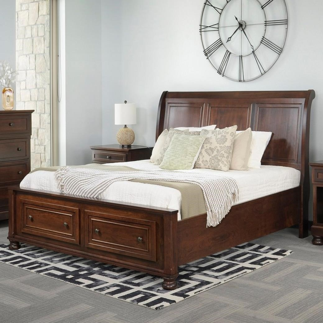 Brigantine Queen Sleigh Bed  by Palettes by Winesburg at Dinette Depot
