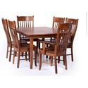 Palettes by Winesburg Classic Shaker Customizable 7 Piece Dining Set - Item Number: 4260A2+2xCSH-302+4xCSH-304