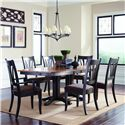 Palettes by Winesburg Hartford  Customizable 7 Pc. Table Set - Item Number: 4260G2 P2DD+2x1102+4x1104