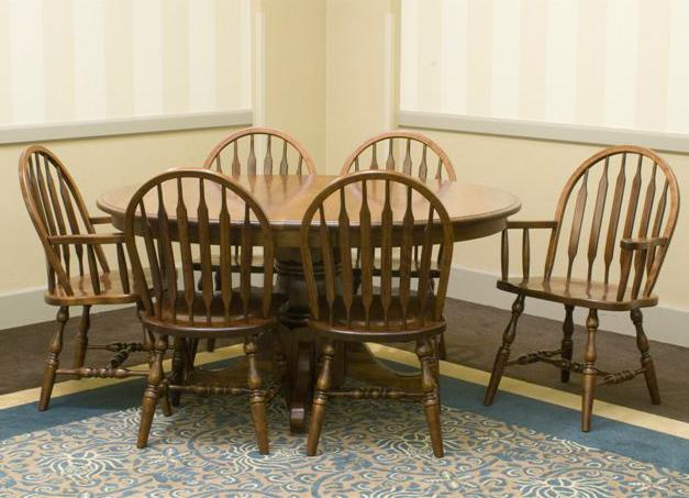 Jr. Bowback Group Customizable 7 Pc. Table & Chair Set by Palettes by Winesburg at Dinette Depot