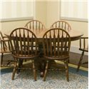 Palettes by Winesburg Jr. Bowback Group Customizable Oval Table - Item Number: 4260BO