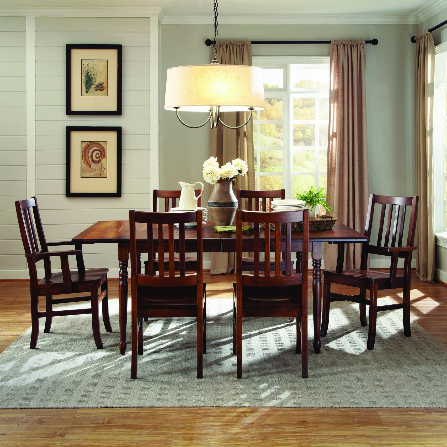5pc Round Pedestal Drop Leaf Kitchen Table 4 Chairs: Palettes By Winesburg Lance Customizable 7 Pc. Drop Leaf