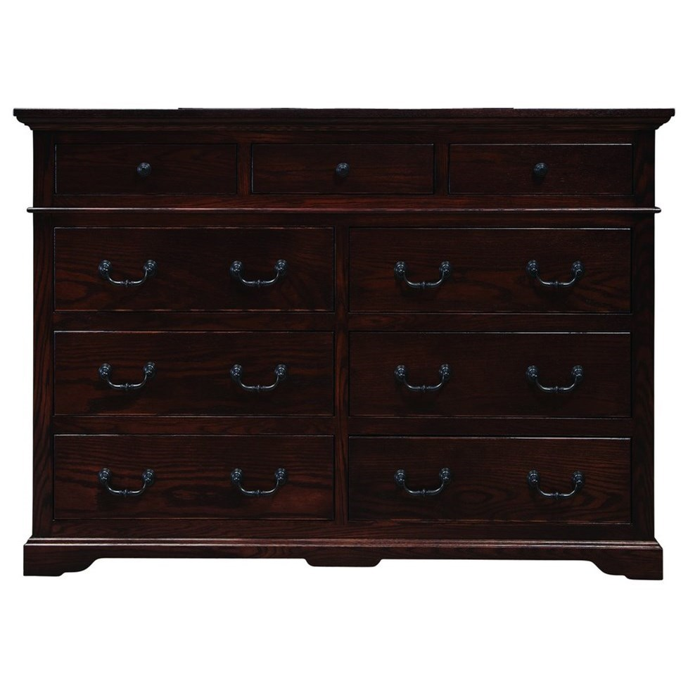 Longmeadow Nine Drawer Dresser by Palettes by Winesburg at Dinette Depot