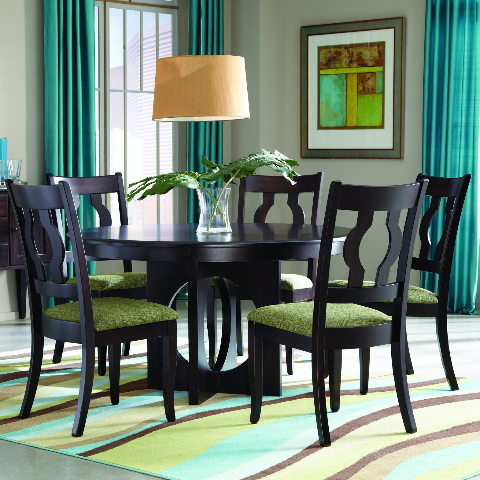 Single Metro Customizable 5 Pc. Table Set by Palettes by Winesburg at Dinette Depot