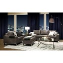 Palliser Bello Contemporary Upholstered Chair with Ottoman