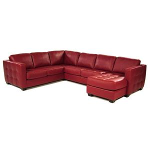 Palliser Tango Sofa Sectional with Decorative Track Arm