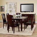 Casana Rodea Leather Mirror - 298-403 - Shown with Sideboard 298-188, Rectangular Table 298-154, Dining Side Chair 298-140, and Dining Arm Chair 298-142