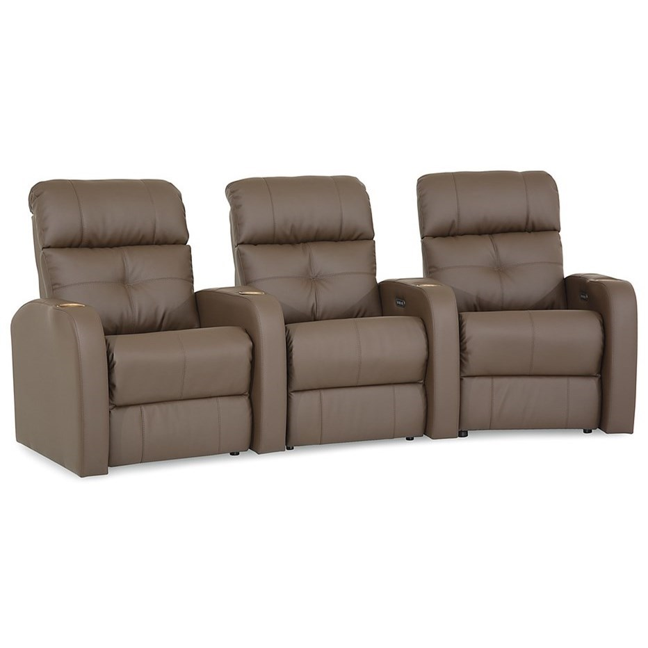 Audio Theater Sectional by Palliser at Mueller Furniture