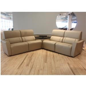 Palliser Motivo 5-Piece Leather Reclining Sectional with Sou