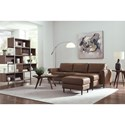 Palliser Atticus Contemporary Sectional Sofa with Right Arm Facing Chaise