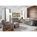 Palliser Amisk Casual Sofa with Pillow Arms
