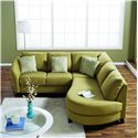 Palliser Alula 77427 Sectional Sofa with Love Seat and Chaise - 70427-07+11+19