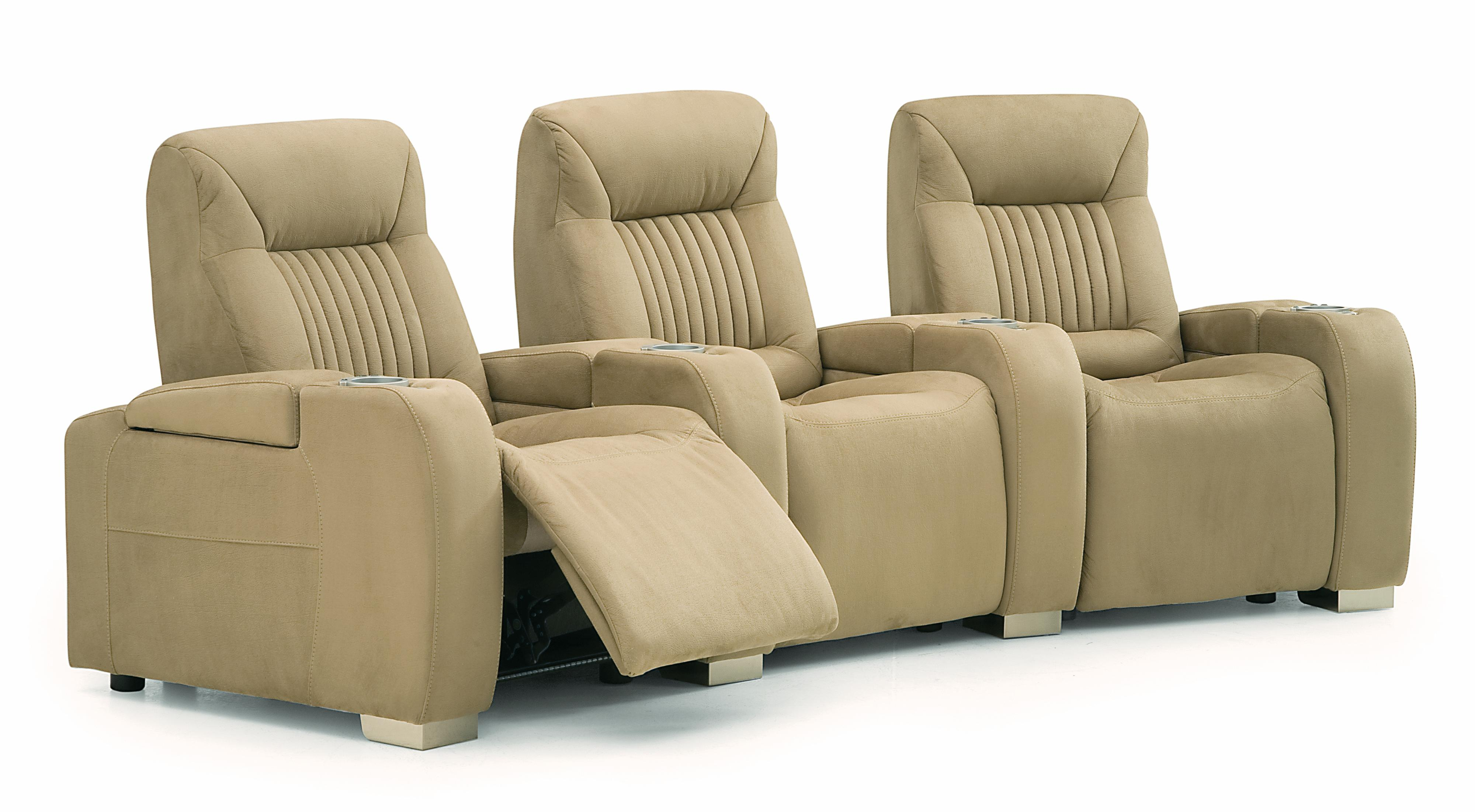palliser autobahn contemporary power 3 piece theater seating with