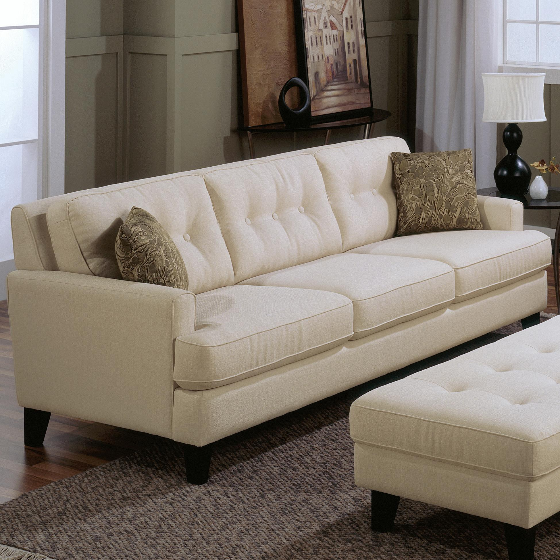 Palliser Barbara Transitional Stationary Sofa With Tapered