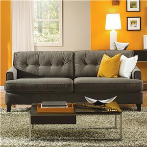 Palliser Barbara Transitional Apartment Sofa with Tapered Block Legs