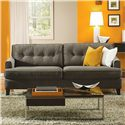 Palliser Barbara Transitional Apartment Sofa with Tapered Block Legs - 70575-91