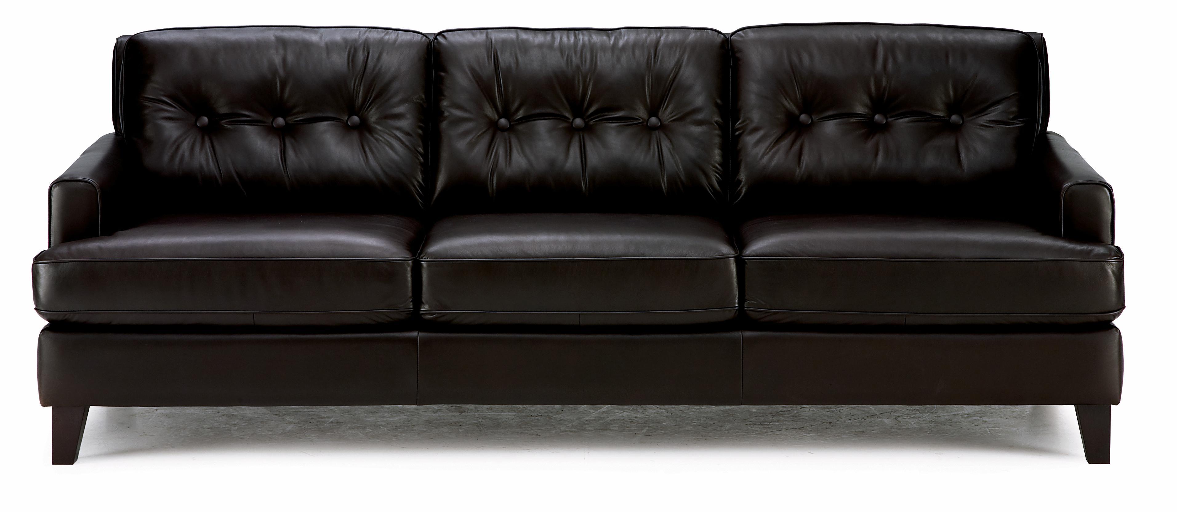Palliser Barbara Transitional Stationary Sofa With Tapered