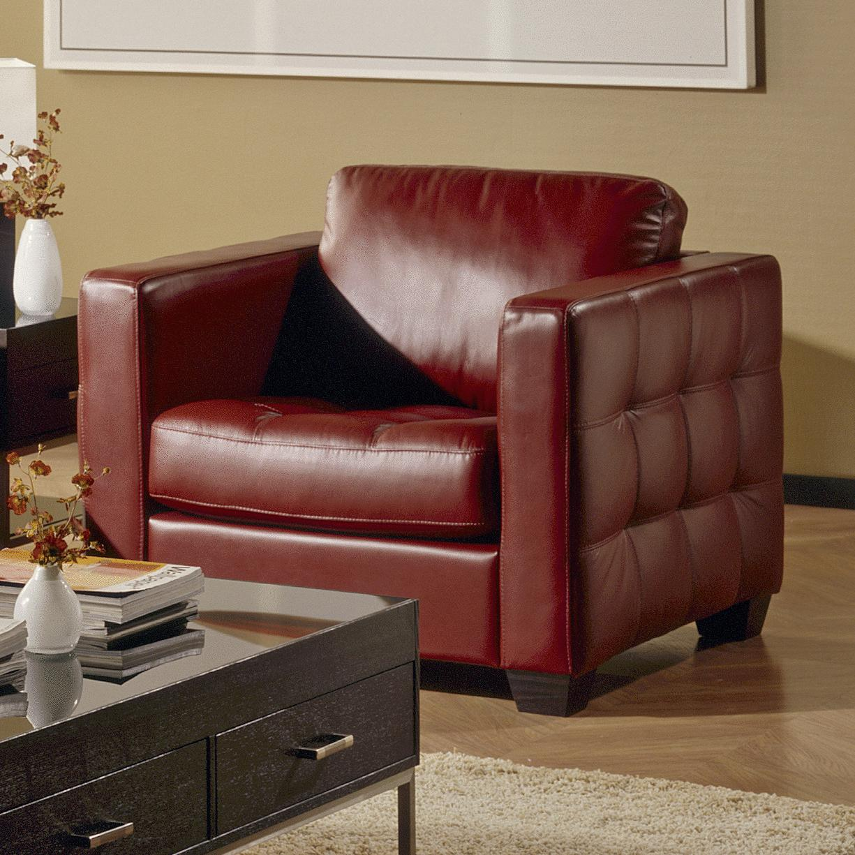 palliser barrett contemporary upholstered chair with square