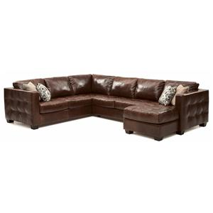 Palliser Barrett  Sofa Sectional with Decorative Track Arm
