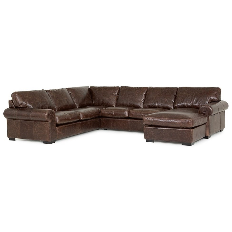 Marvelous Palliser Barrington Transitional 5 Seat Sectional Sofa With Pabps2019 Chair Design Images Pabps2019Com