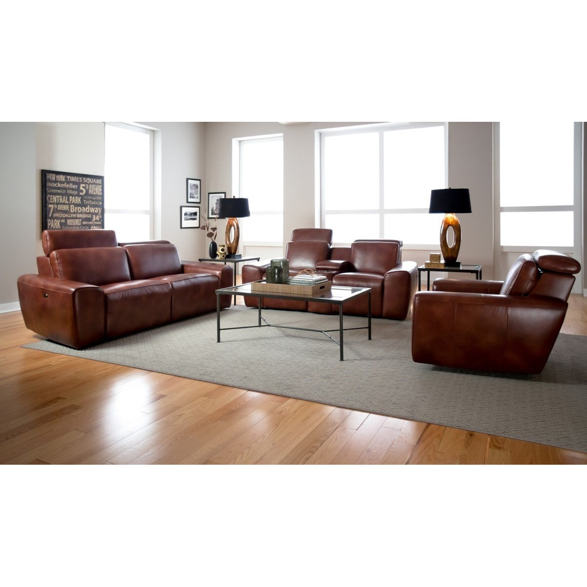 Ashley Furniture Beaumont Tx: Palliser Beaumont Contemporary Sofa Power Recliner With