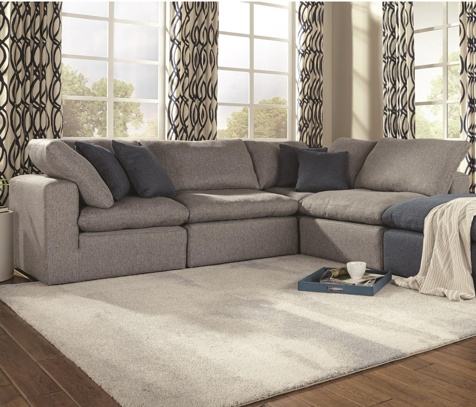 Wondrous Palliser Bloom Casual 4 Seat Sectional Sofa With Reversible Customarchery Wood Chair Design Ideas Customarcherynet