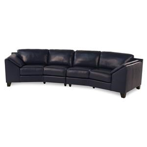 Palliser Regatta Leather Sectional Sofa