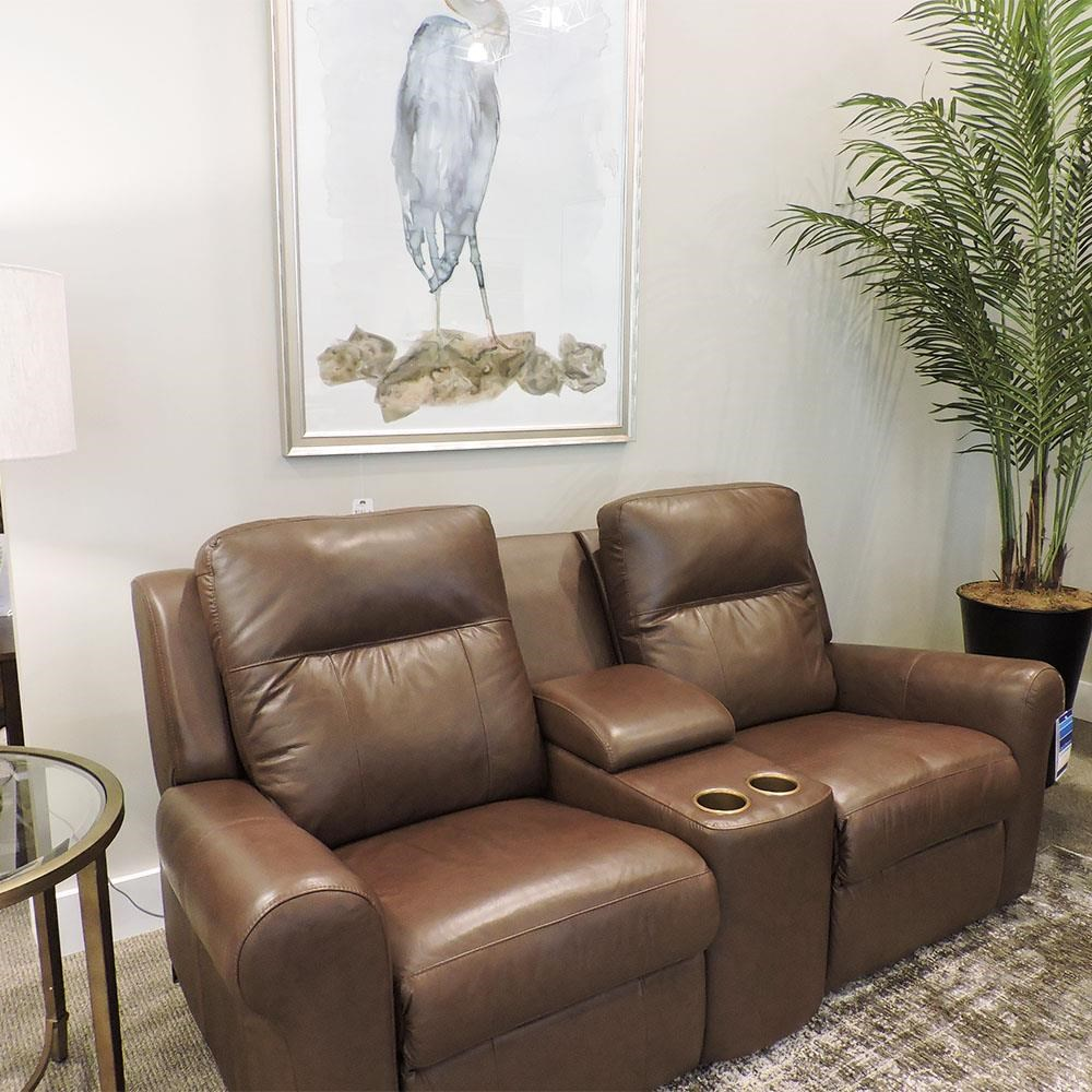 Console Loveseat With Headrest
