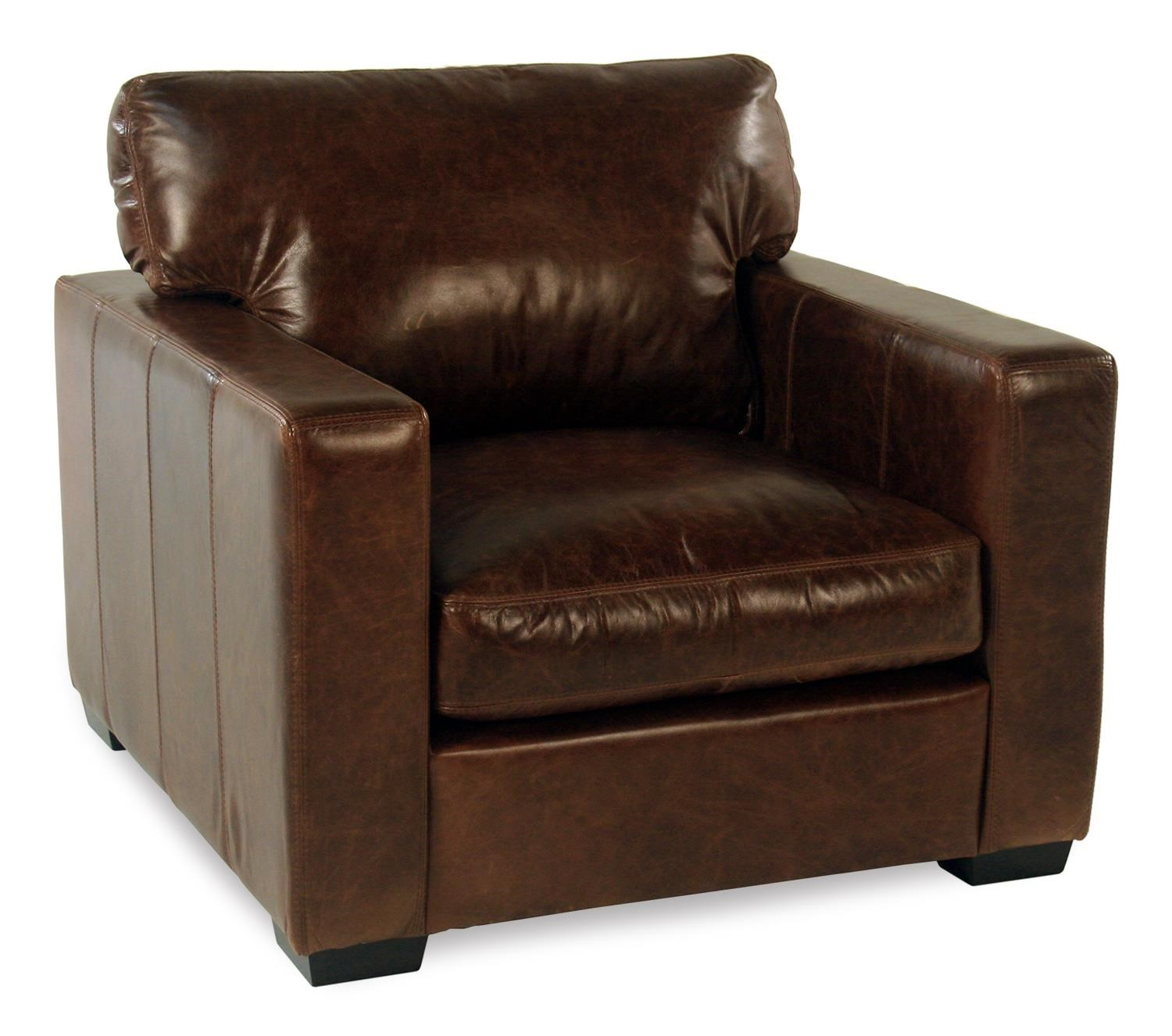 fireside leather chair w track arms rotmans upholstered chairs