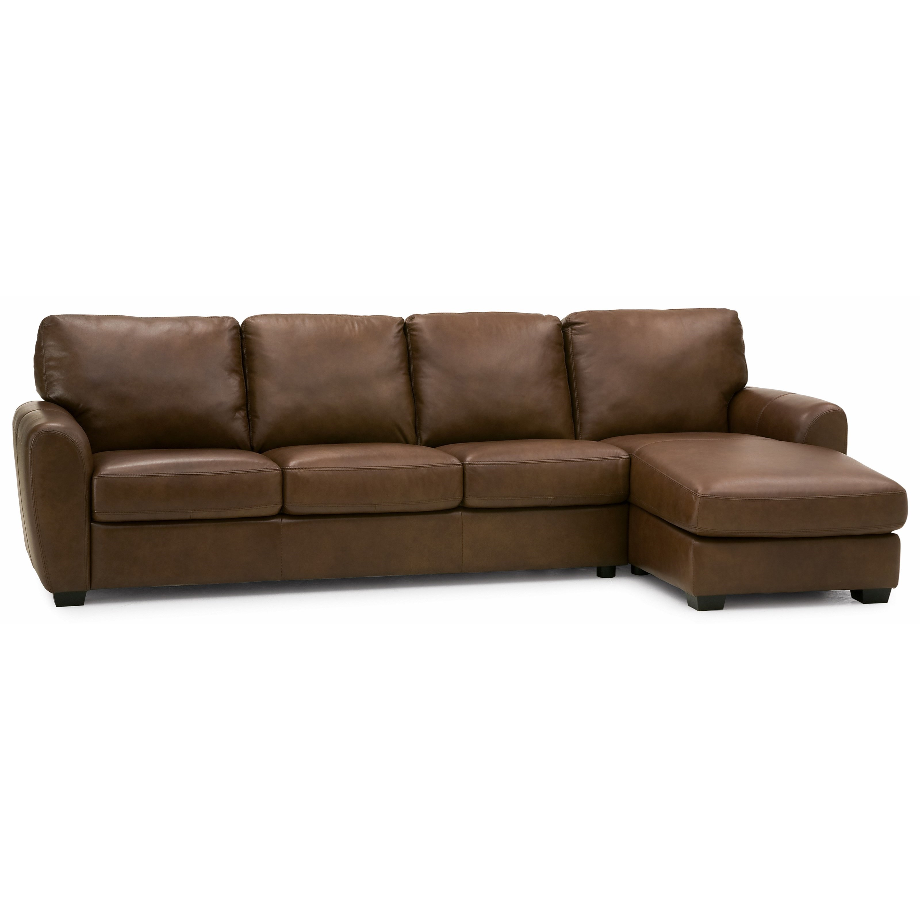 Palliser Leather Sofas: Palliser Connecticut Contemporary Sectional Sofa With RHF
