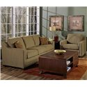 Palliser Corissa Contemporary Sofa with Track Arms - 70500-01 - Shown in a Room Setting with Arm Chair