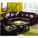 Palliser Corissa Sofa and Love Seat Sectional - Shown in Room Setting