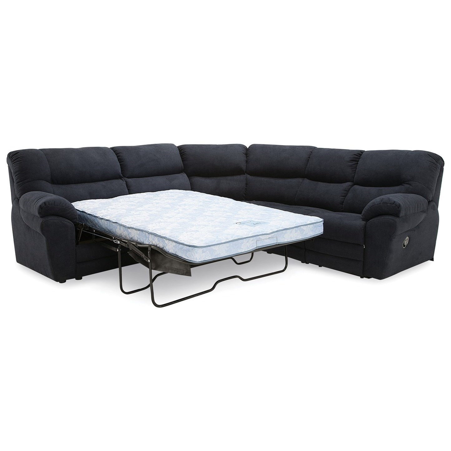 Palliser Divo 4-Seat Reclining Sectional Sofa with Sleeper Bed ...