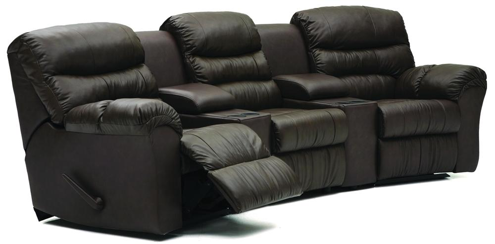 Palliser Durant Curved Home Theater Seating - Item Number: 41098-47+2x80+30+46