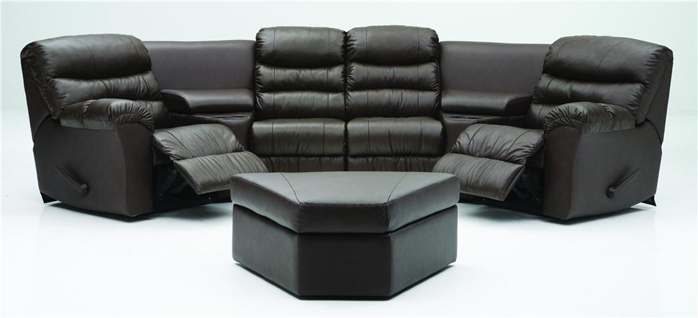 Palliser Durant Corner Home Theater Seating - Item Number: 41098-47+2x81+2x10+46+04