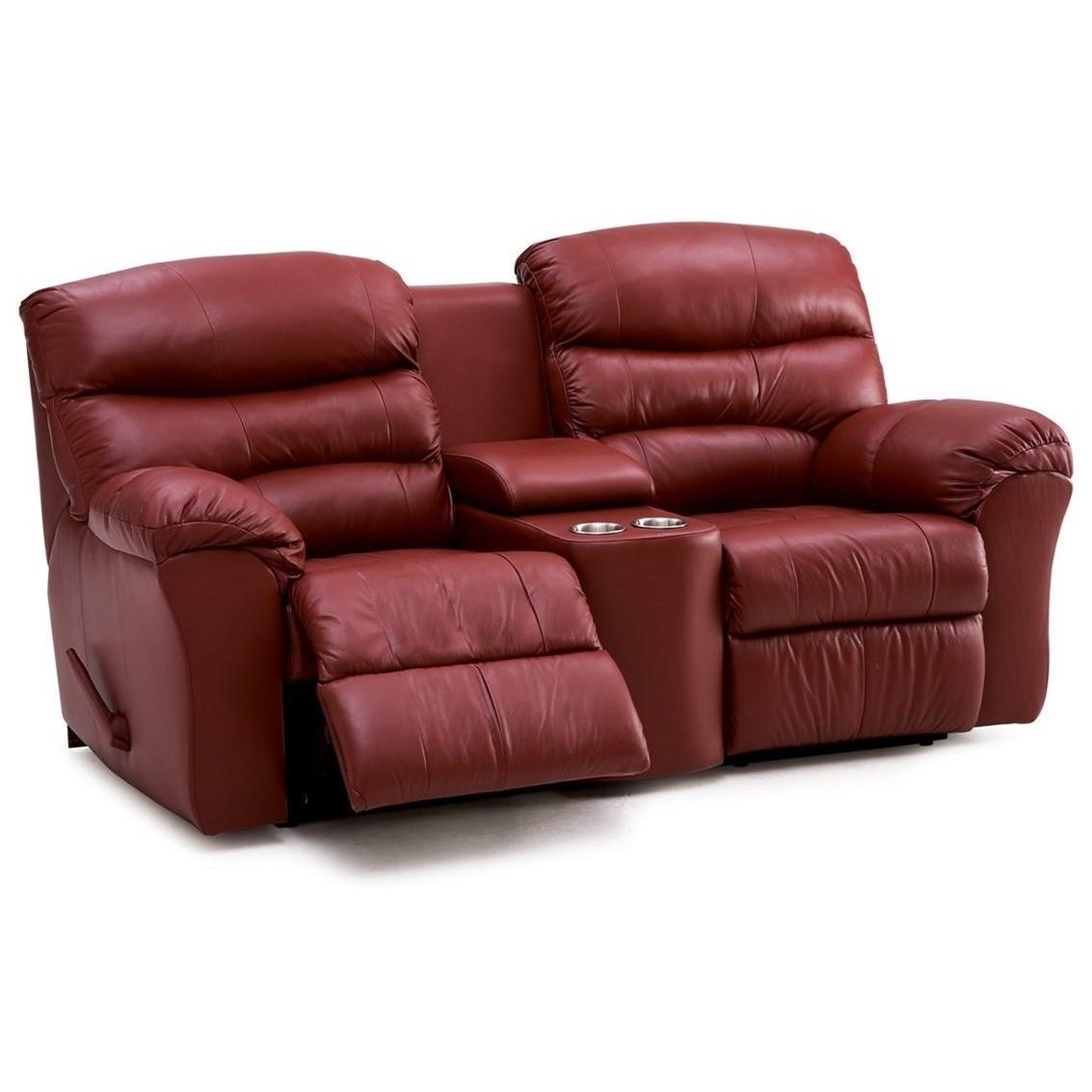 Super Durant Casual Manual Reclining Loveseat With Console And Cupholders By Palliser At Dunk Bright Furniture Caraccident5 Cool Chair Designs And Ideas Caraccident5Info