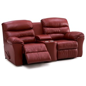Manual Reclining Console Loveseat