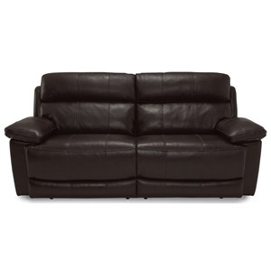 Casual Power Headrest Reclining Sofa with USB Ports