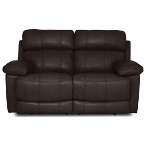 Casual Power Headrest Reclining Loveseat with USB Ports