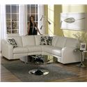 "Palliser Flex Reclining Sectional Sofa - Shown in ""Toscana Snow"" Color without Seat Reclining"