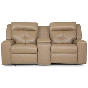 Grove Power Reclining Console Loveseat with Power Tilt Headrest and USB Charging Ports by Palliser