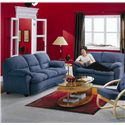 Palliser Harley Casual Upholstered Sofa - 70323-01 - Shown in Room Setting with Loveseat