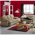 Palliser Harley Casual Upholstered Love Seat - Shown in Room Setting with Sofa