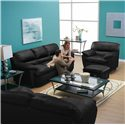 Palliser Harley Casual Upholstered Chair and Ottoman - Shown in Room Setting with Sofa